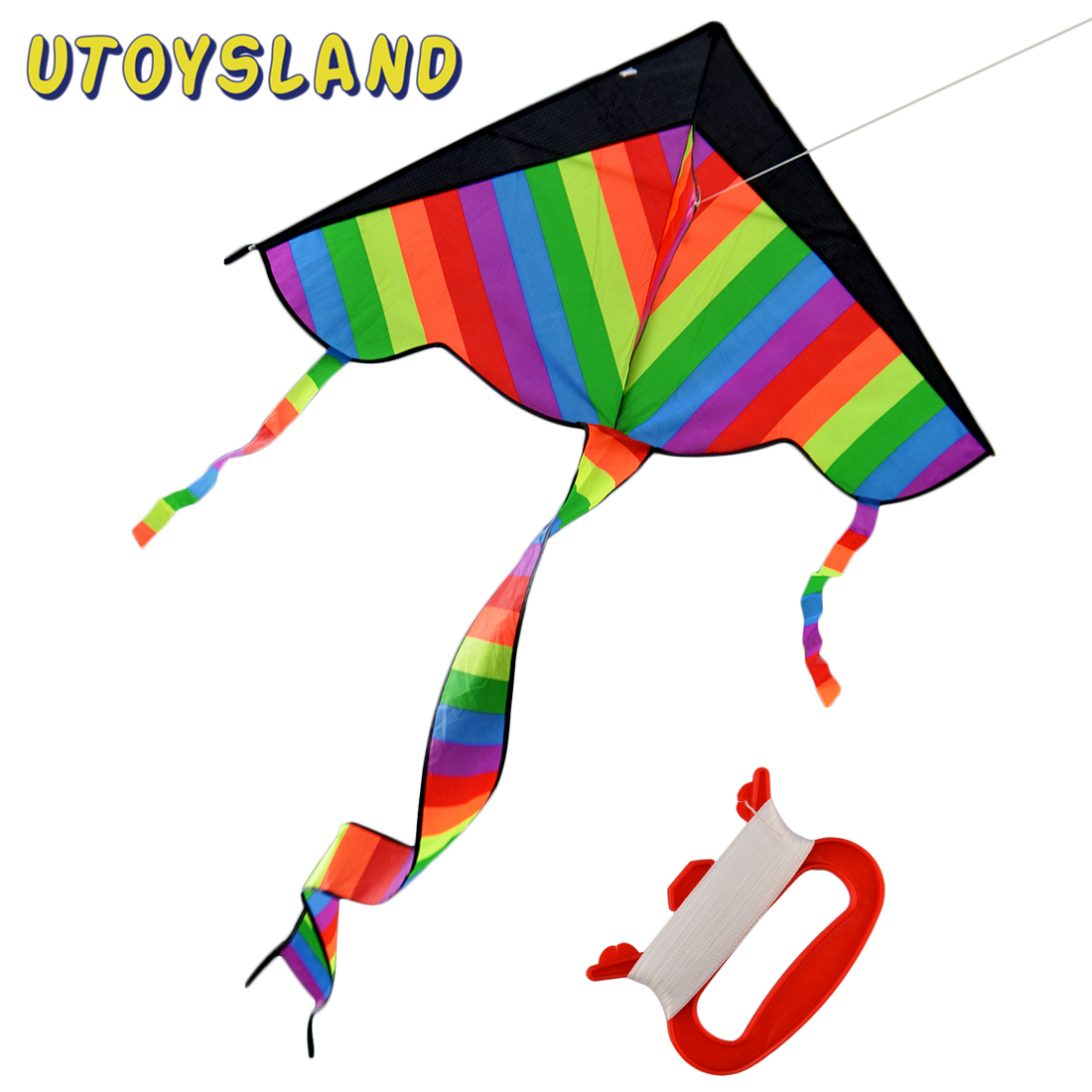 113*62cm Latest Foldable Outdoor Sports Sky Dancer Toy Kite 600D Polyester Fiberglass Flying Kite With Long Tail Children Toy