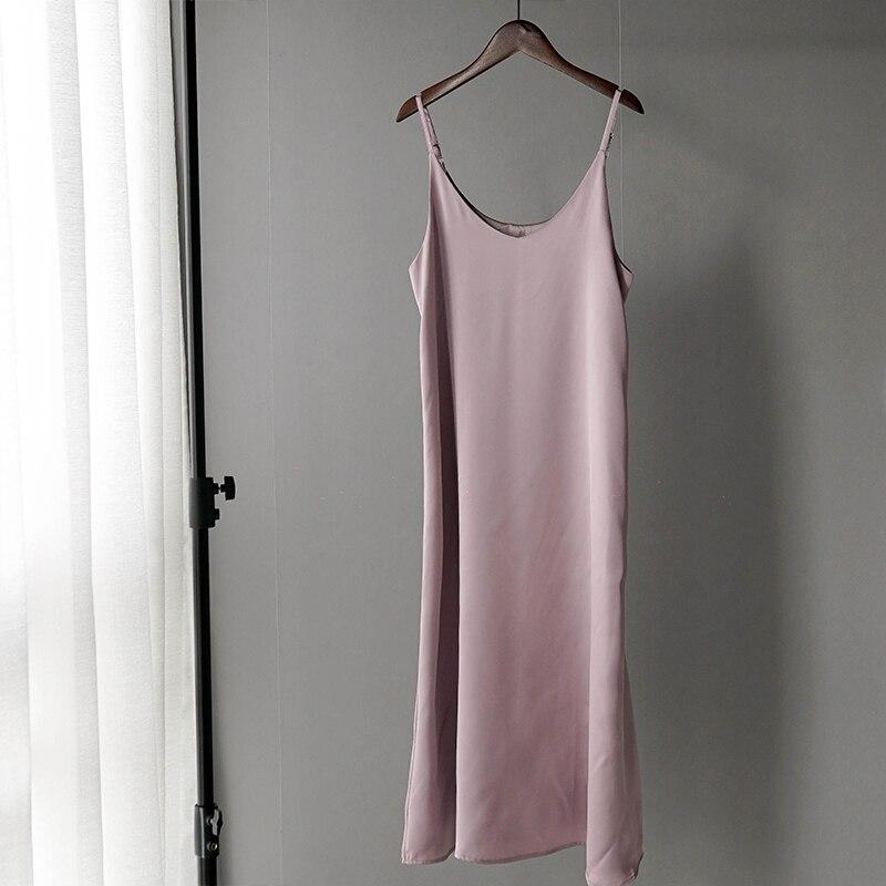 Toppies 2020 Spring Summer Women Satin Dress party Luxury Shiny Sundress Imitation Silk Dress 5