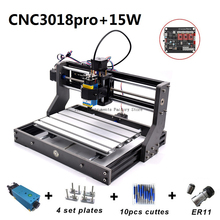 15W CNC3018 Pro Engraving Machine ER11 with 500mw 2500mw 5500mw Head Wood Router PCB Milling Machine Wood Carving Machine DIY