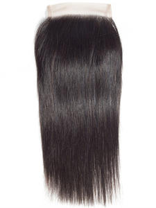 Ariel Lace Closure Weaving Free-Part Brazilian-Hair Natural-Color Straight 100%Human-Hair