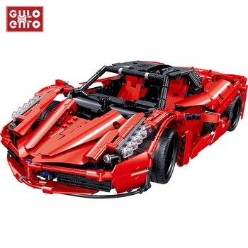 City Racers Enzo Super Racing Scale Sports Car Set Technical Speed Vehicles Building Blocks Bricks  1