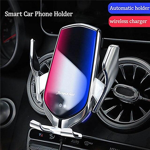 Auto sensing Draadloze Oplader Telefoon Houder Clip voor Benz C Klasse GLA CLA GLC GLE GLS E  klasse Auto Air Vent Universal Telefoon Stand