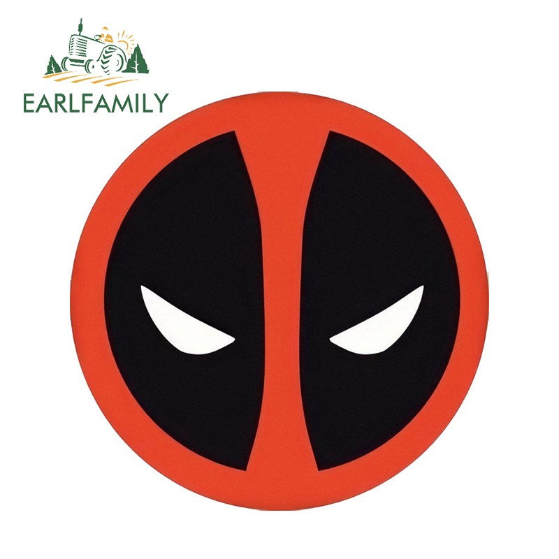 EARLFAMILY 13cm X 13cm Car Bumper Windows Decal Super Hero Deadpool Film 3D Car Styling Cool Graphics Car Stickers Decals