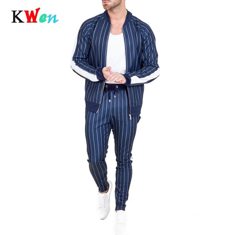Brand Hoodies Tracksuit Set New Men's Autumn Male Sweatshirt Sweatpants Multi-pocket Fashion Trousers High Street Jackets Sets
