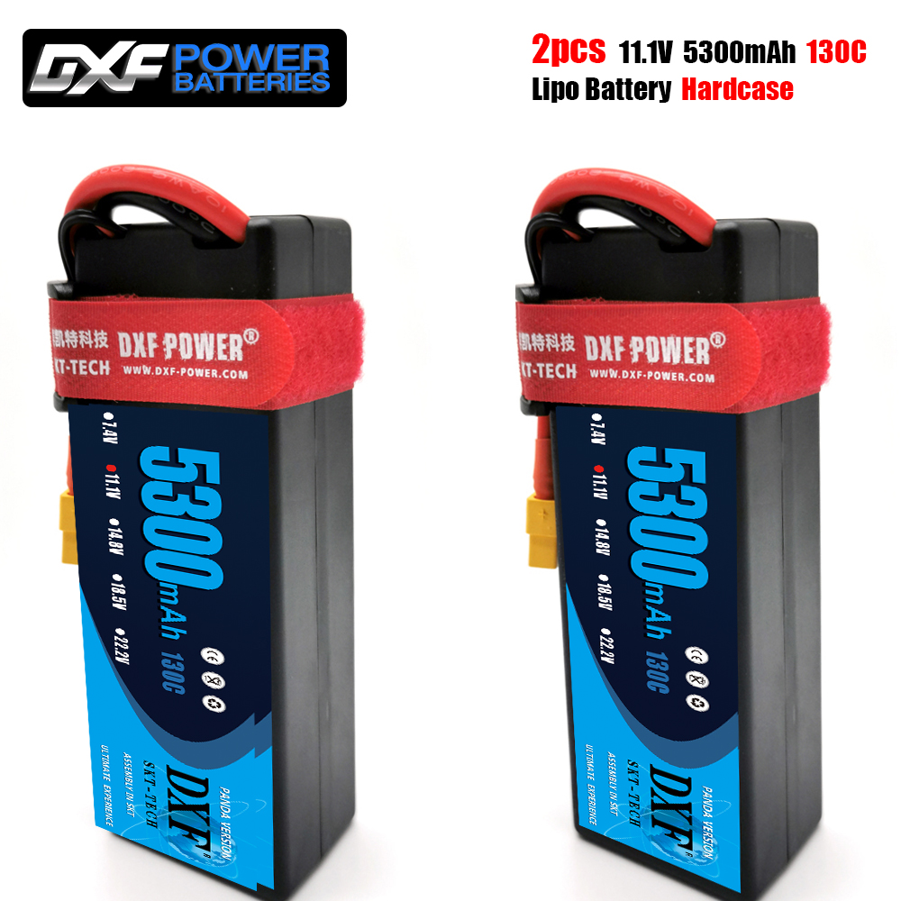 DXF lipo Battery 3S 11.1V 5300mAh 130C -260C XT60 T EC5 XT90 HardCase Lipo Battery for RC HPI HSP 1/8 1/10 Buggy RC Car Truck image