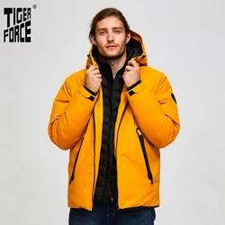 Tijger Kracht Oversize Mannen Winter Jas Ski Sport Jas Voor Mannen Waterdichte Sneeuw Jas Nep Twee Capuchon Mannelijke Dikker jas