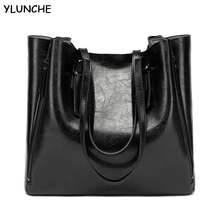 YLUNCHE New Fashion Luxury Women's Handbag  Large Tote Bag Female Bucket Shoulder Bags Lady Leather Messenger Bag Shopping Bag genuine leather handbag female bag shoulder women famous brand cross body bag woman messenger bag bucket large tote shopping bag