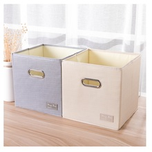 Portable folding Square Oxford Cloth storage box 27*27*27cm wardrobe bins organizer portable container toys bag