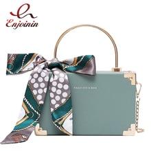 Moda metal lidar com caixa design feminino festa bolsa de embreagem bolsa de ombro corrente bolsas feminino cachecol tote saco crossbody mini saco