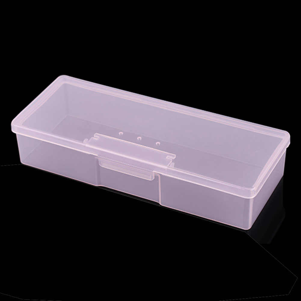 New Transparent Empty Nail Storage Box Manicure Tools Organizer Case Holder