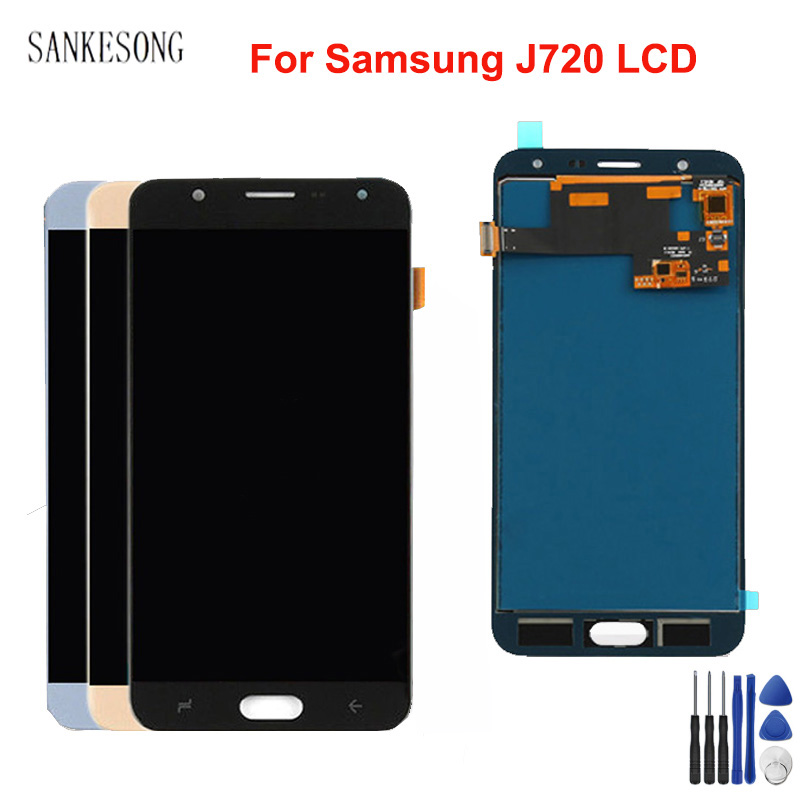 AMOLED/TFT J720 LCD For <font><b>Samsung</b></font> <font><b>Galaxy</b></font> <font><b>J7</b></font> Duo <font><b>2018</b></font> LCD <font><b>Display</b></font> J720 J720F SM-J720F <font><b>Display</b></font> Touch Screen Digitizer Assembly image