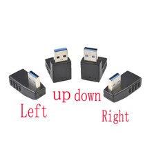 Удлинительный кабель с разъемом USB 3,0 A «Папа-мама», адаптер с прямым углом 90 градусов, заводская цена, Прямая поставка