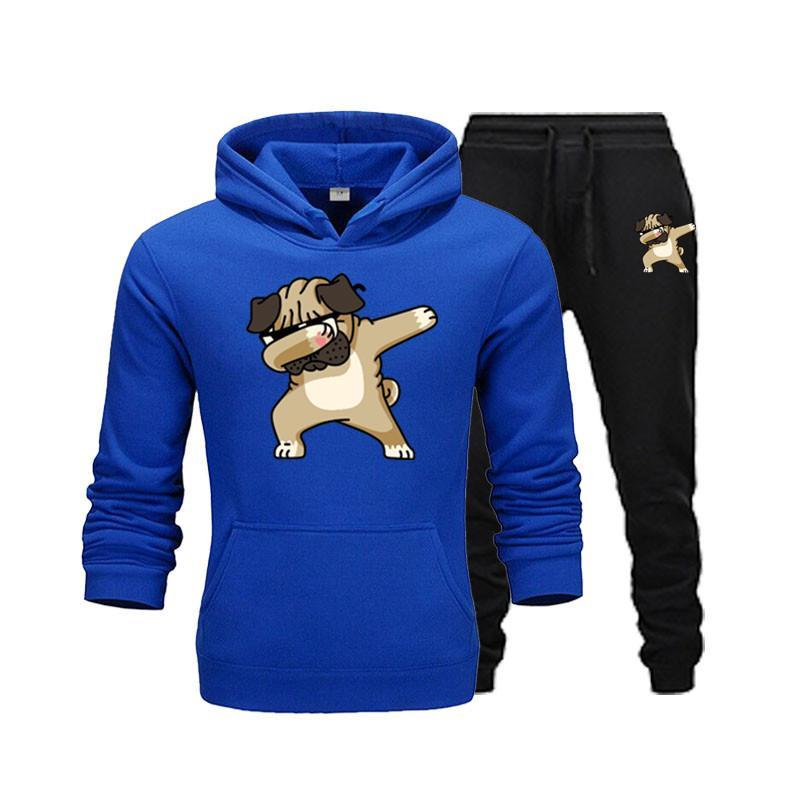 2020 New Two Pieces Set Fashion With Sports Cap Men Suit Hoodie Hoodie Autumn Winter Men Brand Clothing Jacket + Pants Sets