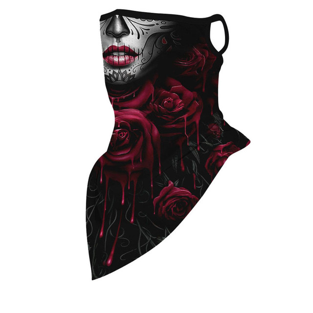 Outdoor Print Seamless Ear Face Cover Sports Washable Scarf Neck Tube Riding Face Mask Windproof Bandana Unisex Accessory