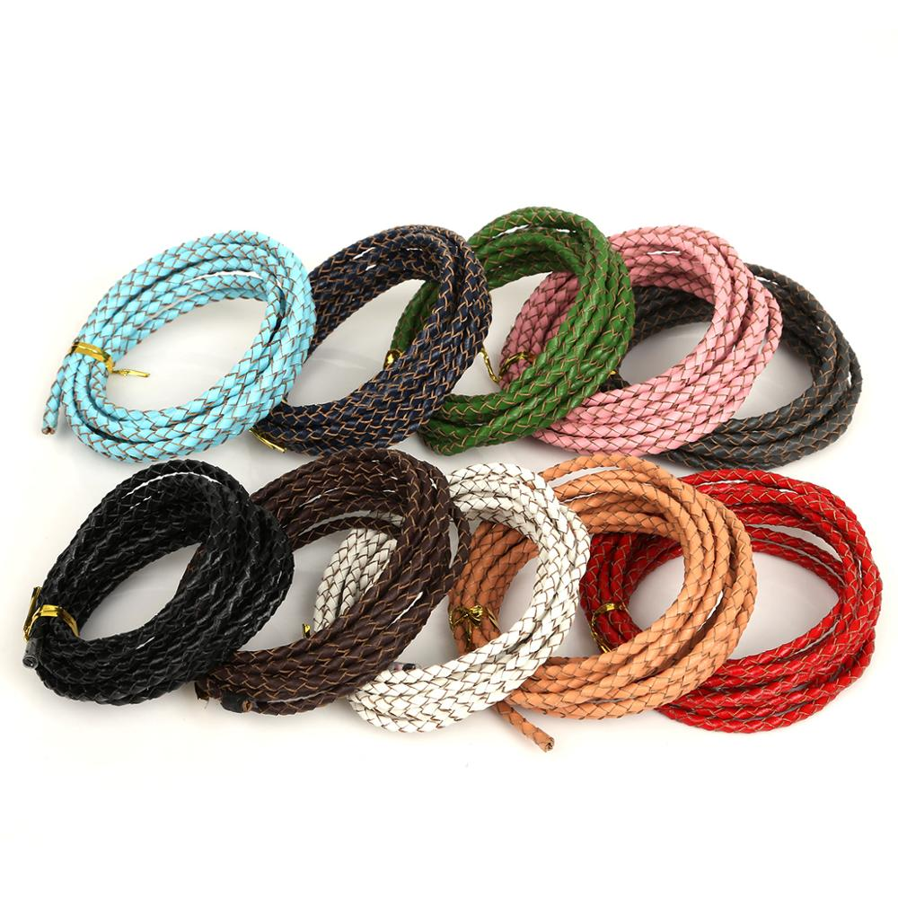 5//100m Man-made Leather Braid Rope Hemp 3mm Cord For Charm Necklace Or Bracelet