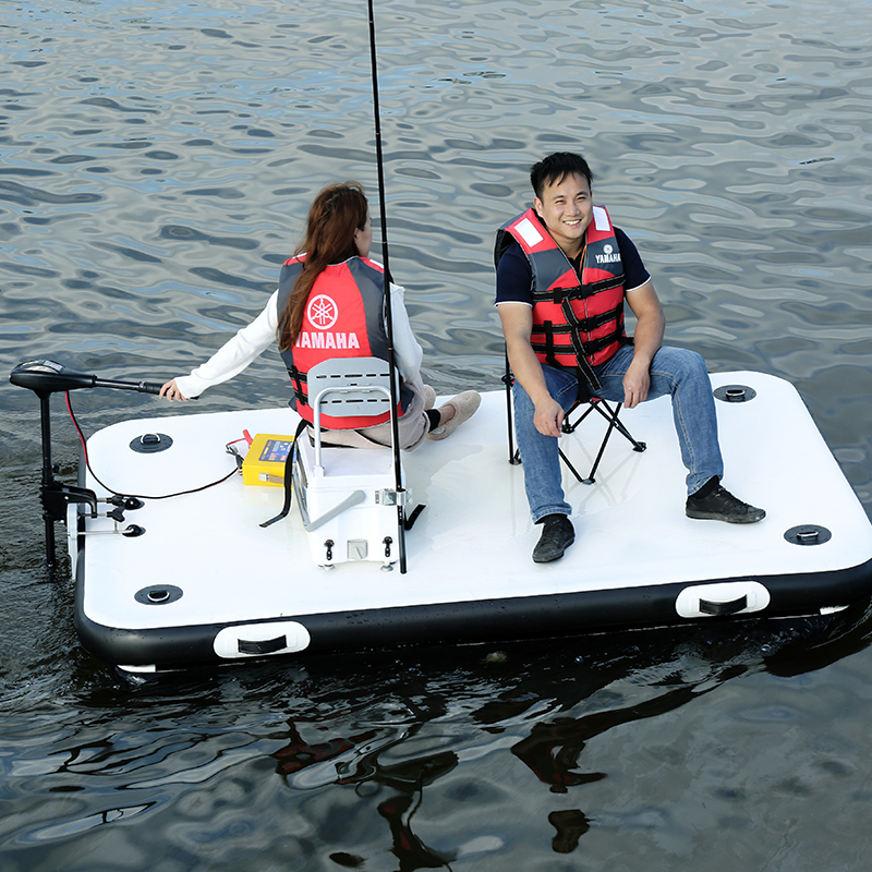 Fishing Magic Carpet Buoy Enhanced Inflatable Fishing Floating Platform Luya Inflatable Boat Rubber Boat 2