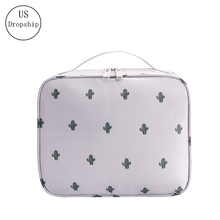 New Women Cosmetic Bag Multifunction Makeup Organizer Bag Portable Lady Square Box Travel Necessity Beauty Toiletry storage bag