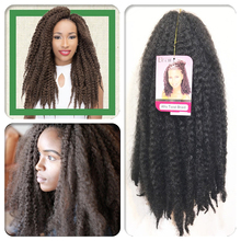 afro kinky Marley braid Hair Extensions Curly Wig Long Synthetic Twist Natural Black For Black Women and Men Afro Curly Hair