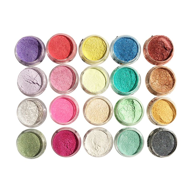 20 Pcs/set Pearlescent Powder Manual DIY Jewelry Filler Crystal Mud Epoxy Resin Color Dye Pigment