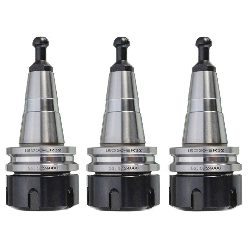 3PCS Metal ISO30 ER32 50 Balance Collet Chuck G2.5 24000rpm CNC Toolholder