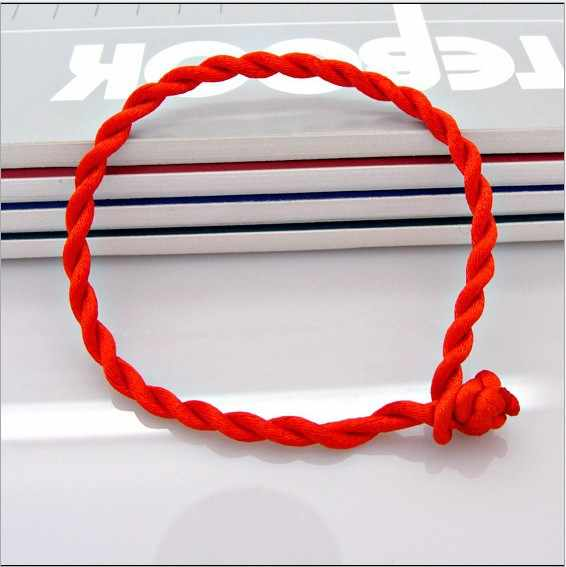 Rough 4MM Handwoven Red Rope Bracelet of about 21CM in Length