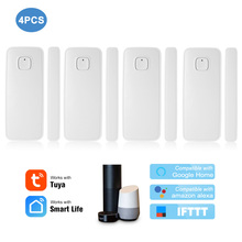 Tuya APP Control Door Window Sensor Open Security Alarm Sensor Magnetic Switch Wireless Detector Work with Alexa Google Home