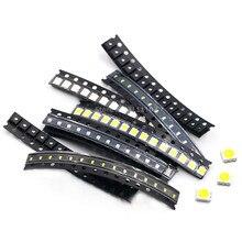 100PCS/LOT SMD LED Kit 1206 1210 5050 5730 0805 0603 3528 Red/Green/Blue/White/Yellow led diode set 5 Colors Each 20PCS