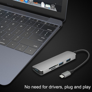 Image 5 - جديد USB C Hub إلى 3 USB 3.0 /TF /SD محول شحن ميناء نوع C Hub ل ماك بوك برو سامسونج غالاكسي S8 S9 LG G5 USB C HUB