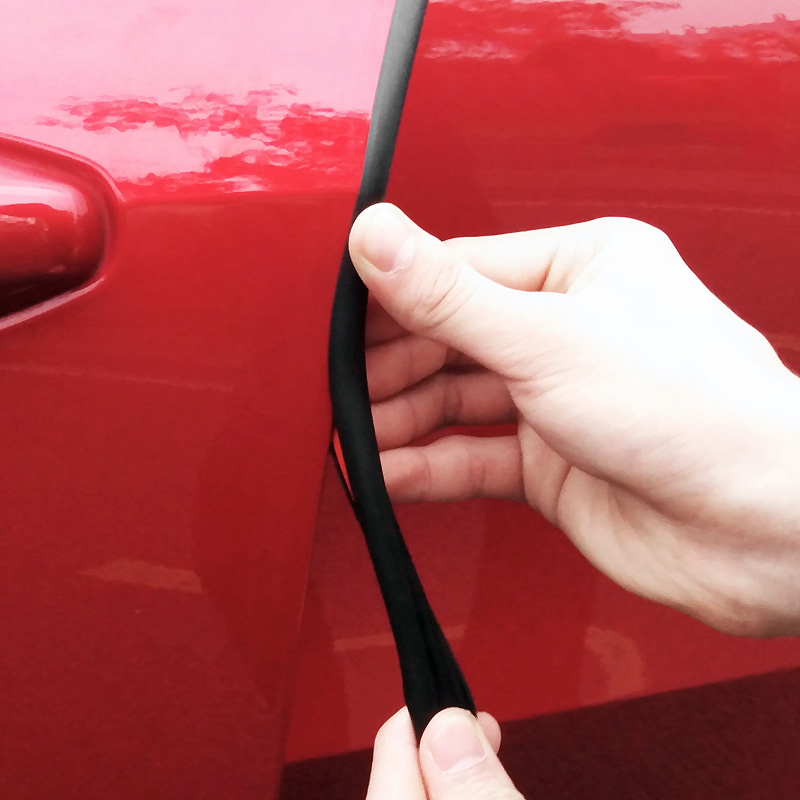 Car Styling Rubber Car Door Seal Strip Stickers Anti-Dust Soundproof Sealing BJ Type Noise Insulation Auto Interior Accessories