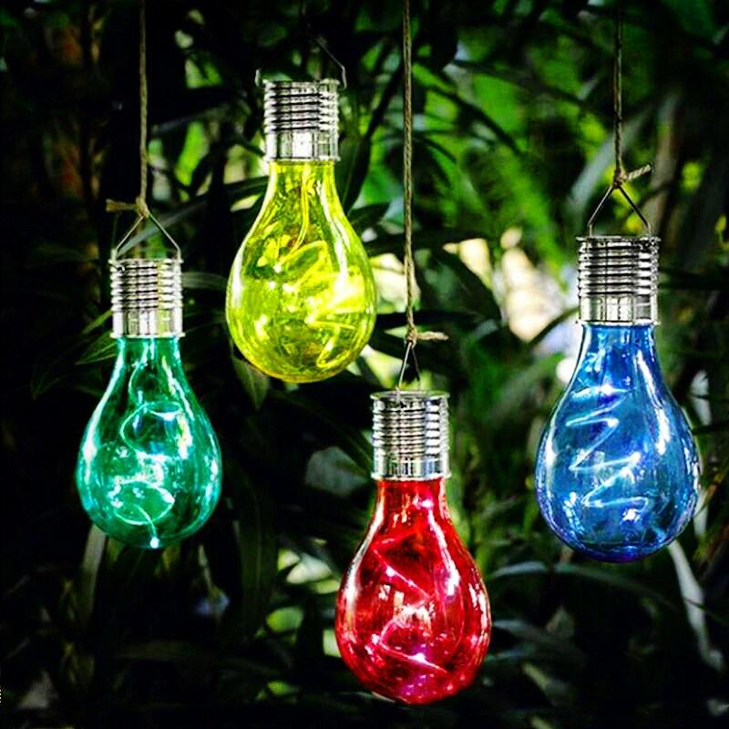 Lustre de luzes solares para acampamento, para áreas externas, jardim, corredor, caminho, lâmpada solar, para decoração de árvore de natal