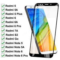 Vidrio Templado 11D para Xiaomi Redmi 5 Plus 5A Go 6 6A S2 7A, Protector de pantalla Redmi Note 5 5A 6 Pro, película protectora de vidrio de seguridad