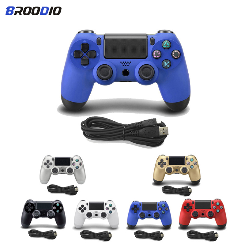 4 2 USB Wired Controller Joypad Gamepad For Sony PS4/PS3 Controller PlayStation 4 Dualshock Console Gaming Joystick with 2.2M Cable (1)