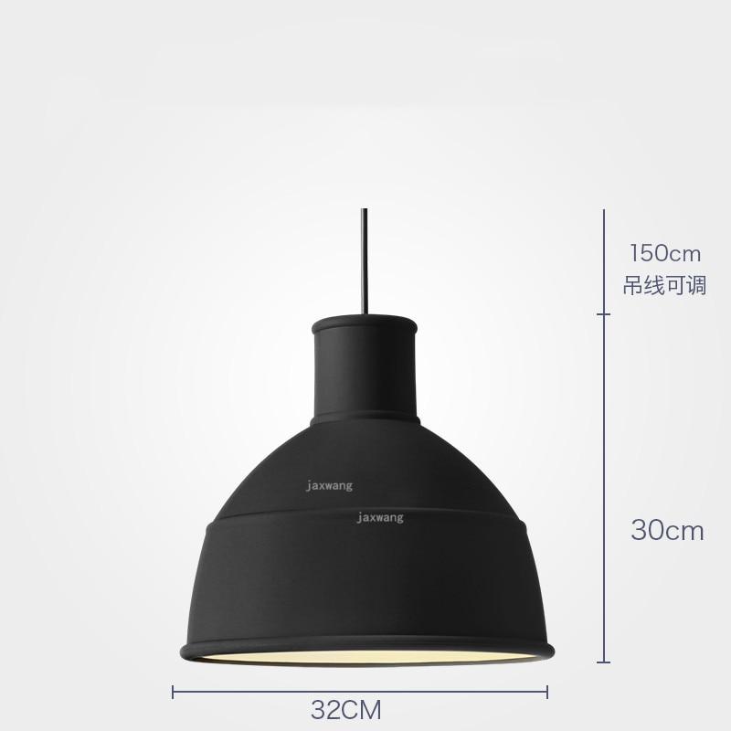 Новинка, подвесной светильник в скандинавском стиле, для столовой, макарон, s, смоляный светильник, светильники, кухонные подвесные лампы, подвесной светильник для гостиной, светодиодный, внутреннее освещение - Цвет корпуса: Black 32CM