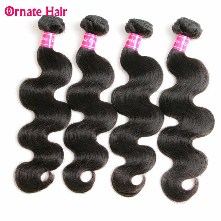 Brazilian Hair Body Wave Bundles Human Hair Extension Brazilian Hair Weave Bundles 4 Bundle Deals Non Remy Hair Bundles