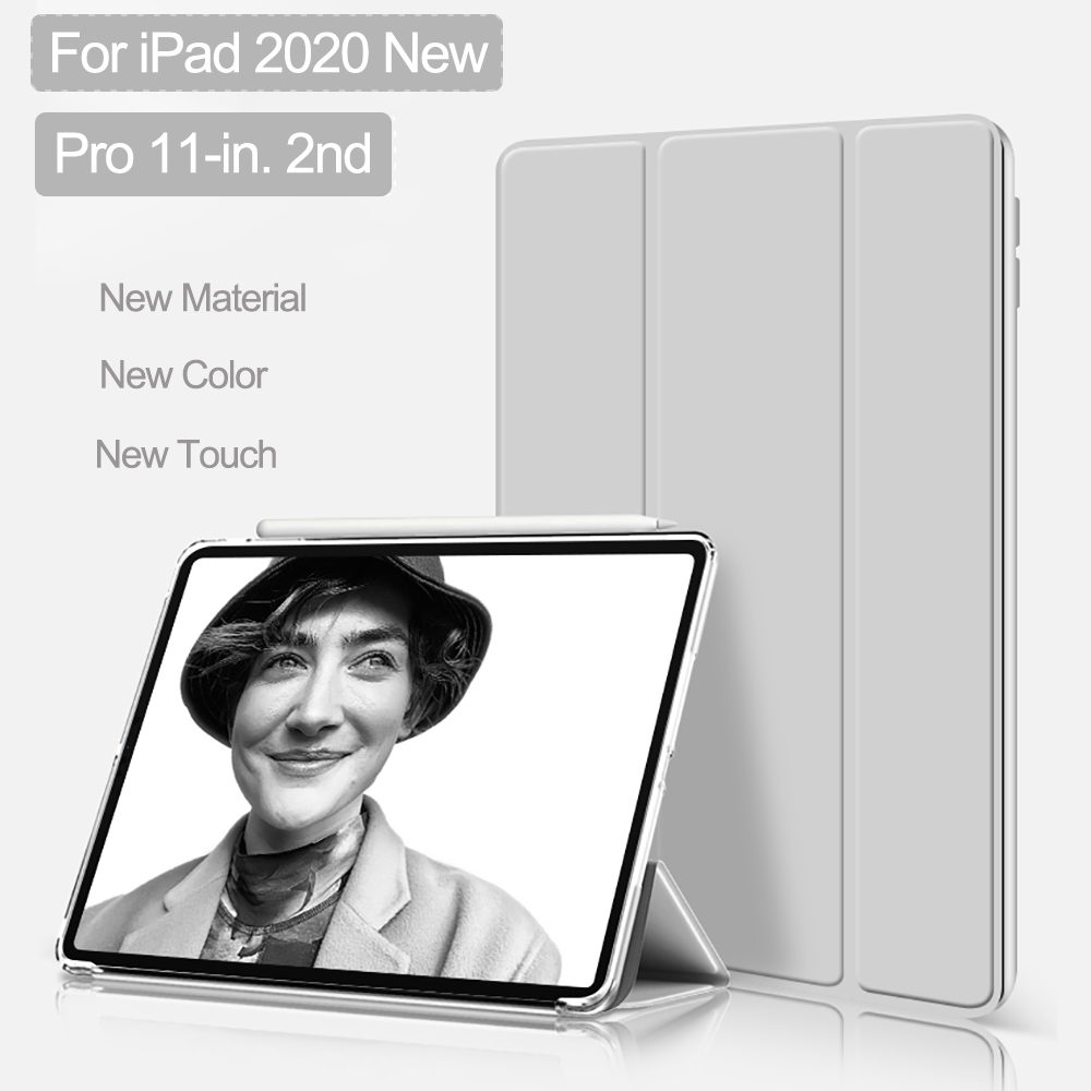 Smart Case For iPad Pro 11 inch 2nd Case 2020 new model A2228 Stand Matte PVC