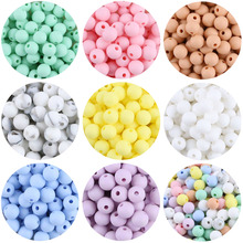 Let's make Silicone Beads 50pcs 9mm Teething Baby Teether DIY Accessories Pacifier Chain BPA Free Candy Color Food Grade Silicon