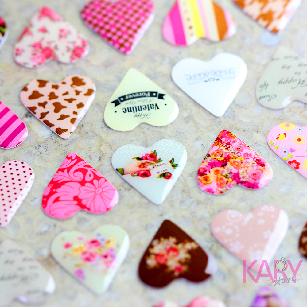 Special Art Heart Shape Scrapbooking Crystal Stickers Romantic Retro Show Love Kawaii Stationery Reward Children Fashion Craft