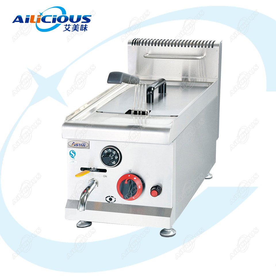 GF71A Gas Comercial Tank Deep Fryer Oven LPG Nature Chicken Potato Chips Oil Fried Stainless Steel 14L 28L