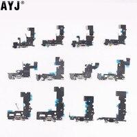 AYJ-Cable de carga USB para iPhone SE 5S, 6, 6S, 7 Plus, 5, micrófono, Conector de Audio, pieza de repuesto