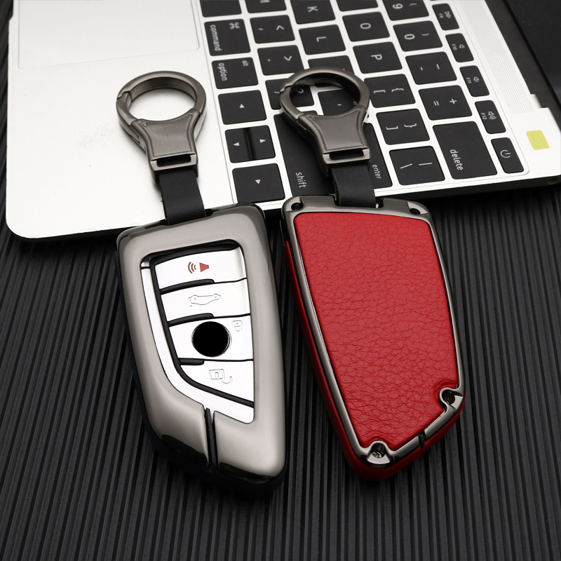 Zinc alloy  Leather Car Key Case Cover For BMW 1 2 3 4 5 6 7 Series X1 X3 X4 X5 X6 F30 F34 F10 F07 F20 G30F15F16 protection case|Key Case for Car| |  - title=