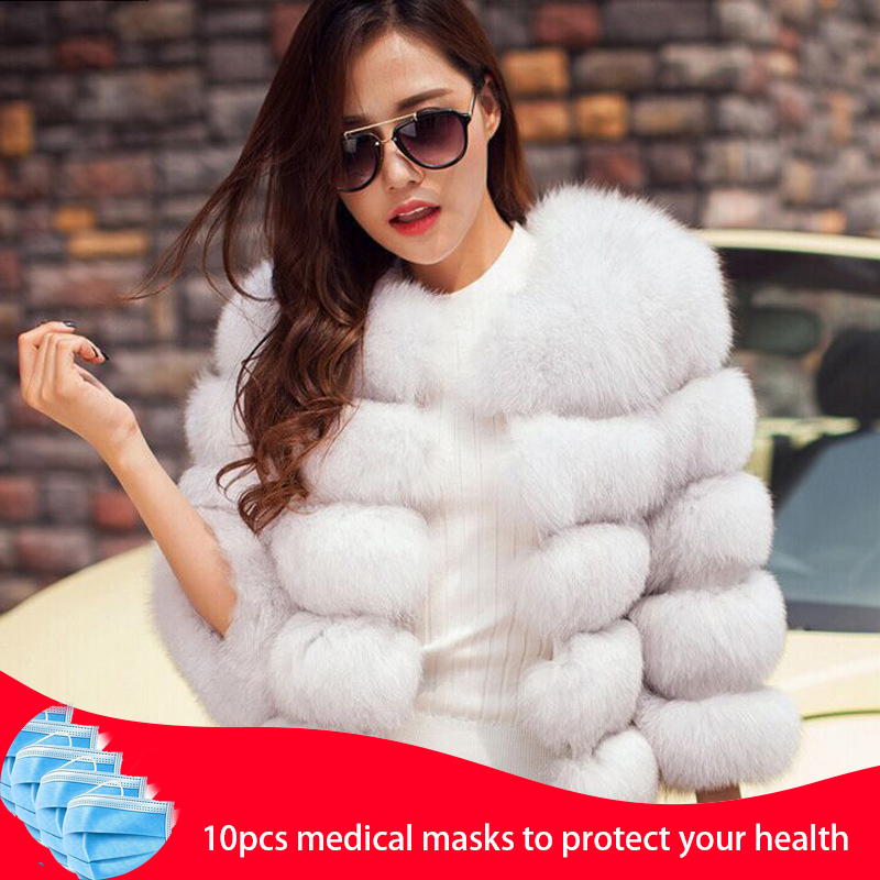 2020 New Style Women Fur Coat 100% Natural Fur Jacket Female Winter Warm Leather Fox Fur Coat High Quality Fur Vest Mixed Fur(China)