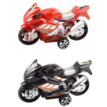Children Collection Gift Decor Cool Model Toy Off-road Vehicle Simulation Plastic Diecast Motorcycle 9.8x5.7cm image
