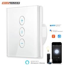 Interrupteur tactile Intelligent wi fi, IFTTT, commande vocale, avec application de régulation européenne, compatible avec Alexa et Google Home