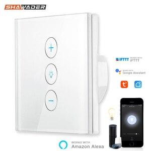 Image 1 - Interrupteur tactile Intelligent wi fi, IFTTT, commande vocale, avec application de régulation européenne, compatible avec Alexa et Google Home