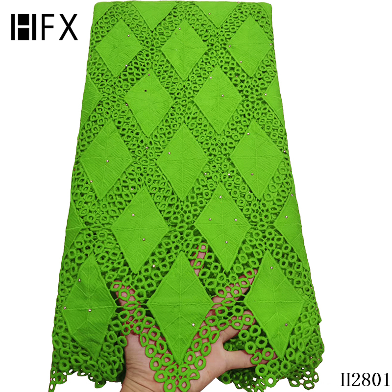 African lace fabric Latest Green Cord Lace Fabric Water Soluble Dress Stones 2019 High Quality Nigerian Guipure