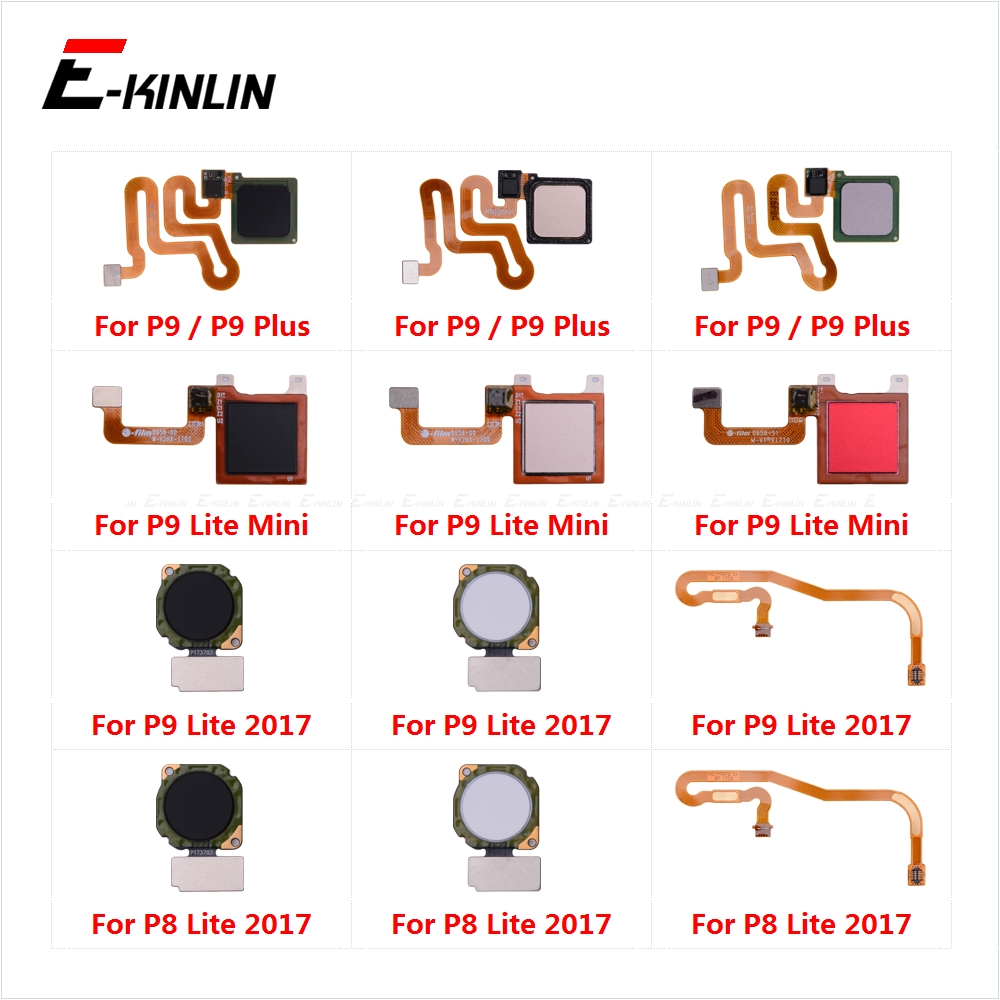Fingerprint Sensor Home Button For Huawei P9 Plus P8 Lite 2017 Mini Touch ID Return Button Menu Connector Flex Cable Ribbon