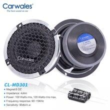 Carwales автомобильный 3,5 дюймовый аудио звуковой динамик, набор чистых СЧ Авто три частоты модифицированный динамик s громкий динамик DIY звуковая система