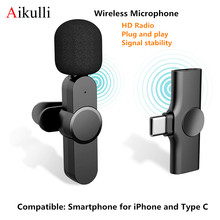 Wireless Lavalier Microphone for iPhone Android Type C for Content Creators Phone Lapel Video Mic to Vlogging Youtuber Recording