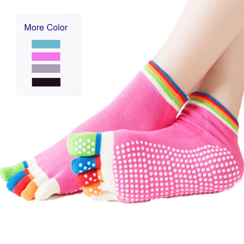 YTFAIFEN Yoga Socks Women Cycling Socks Running Fitness Running Sport Pilates Fishing Skateboard Camping Accessories Calcetines