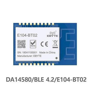 E104-BT02 SMD 2.4GHz DA14580 Bluetooth ble 4.2 rf Module Transceiver  Wireless Transmitter Receiver 2.4 ghz Bluetooth Module
